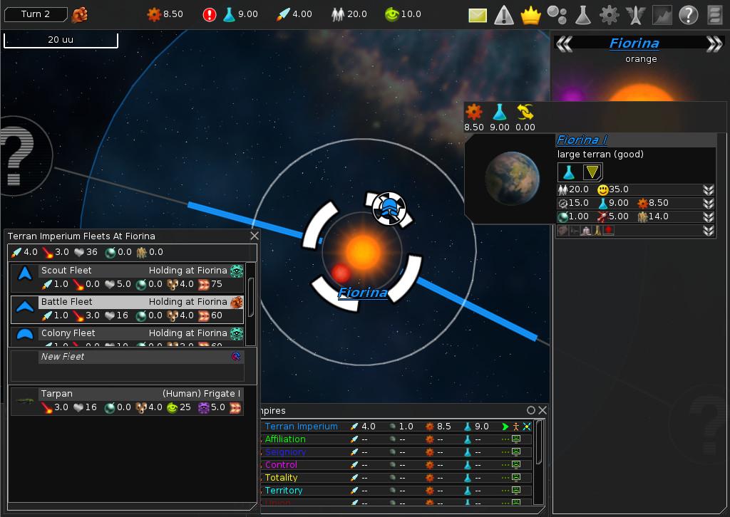 Screenshot 1 - FreeOrion