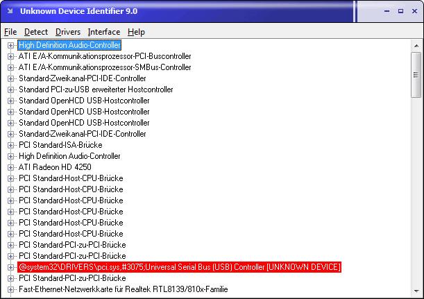 Screenshot 1 - Unknown Device Identifier