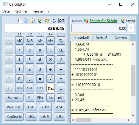 Screenshot 1 - Calculator
