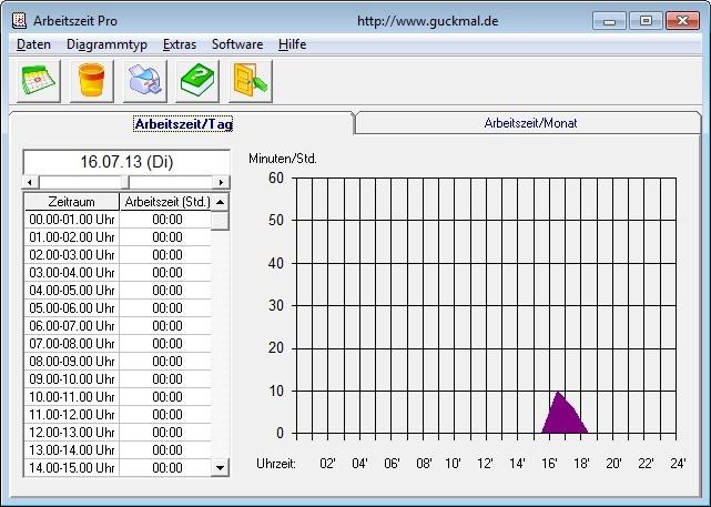 Screenshot 1 - Arbeitszeit Pro