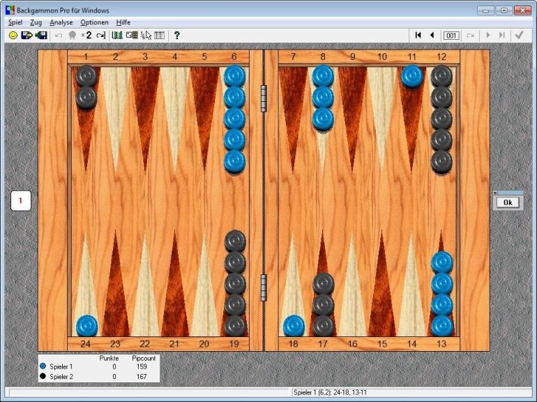 Screenshot 1 - Backgammon Pro