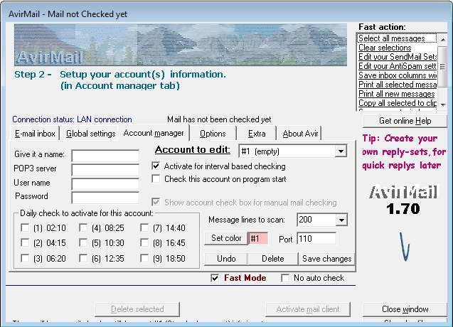 Screenshot 1 - Avirmail