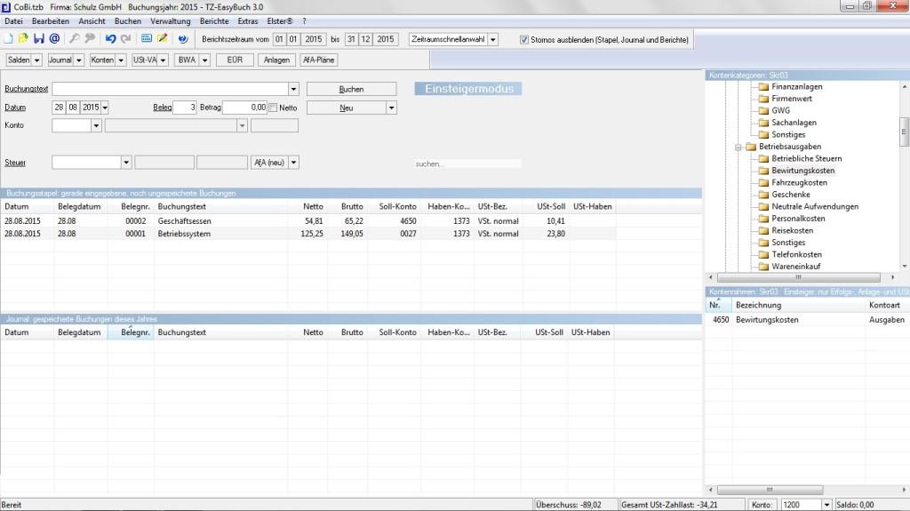 Screenshot 1 - TZ-EasyBuch
