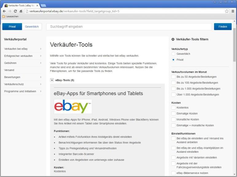 Screenshot 1 - Verkäufer-Tools für eBay