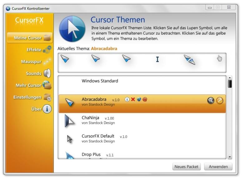 Screenshot 1 - CursorFX