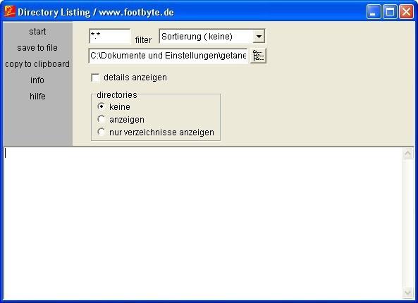 Screenshot 1 - Directory Listing