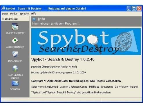 Spybot – Search & Destroy ©COMPUTER BILD