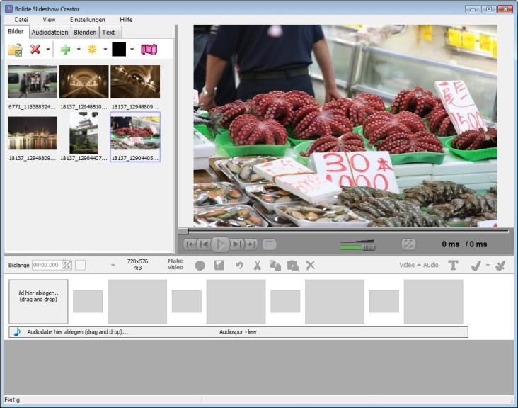 Screenshot 1 - Free Slideshow Creator