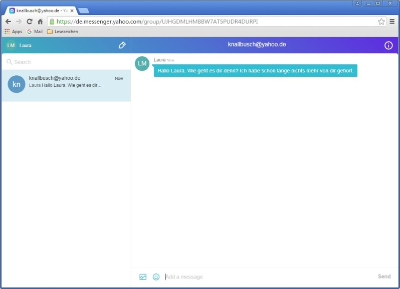 Screenshot 1 - Yahoo Messenger