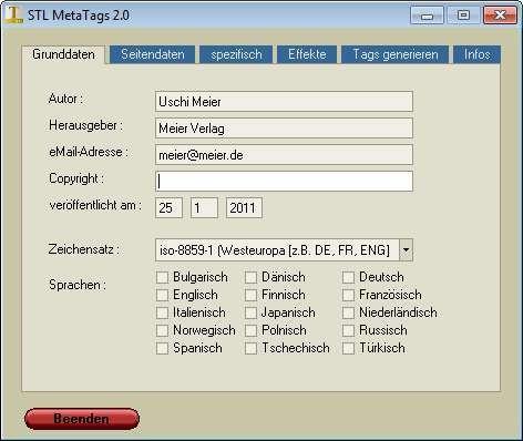 Screenshot 1 - STL MetaTags