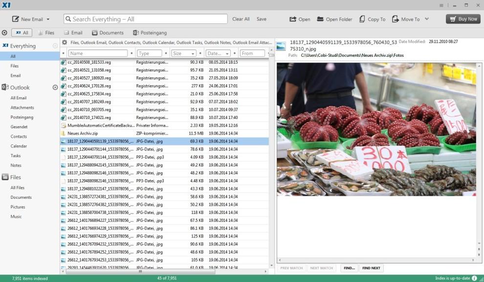 Screenshot 1 - X1 Search 8