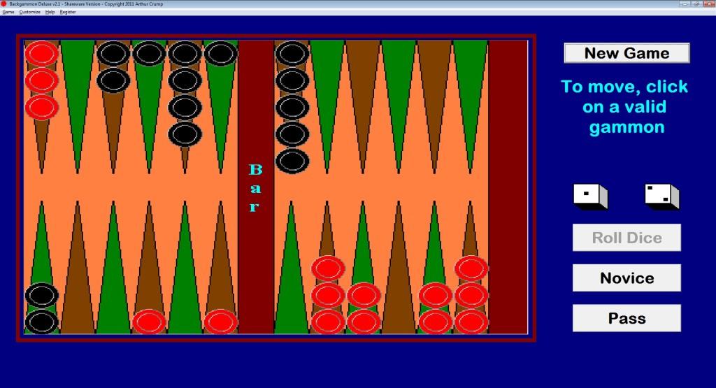 Screenshot 1 - Backgammon Deluxe