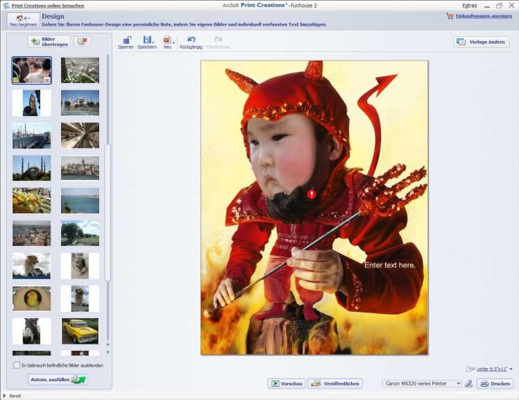 Screenshot 1 - ArcSoft Print Creations