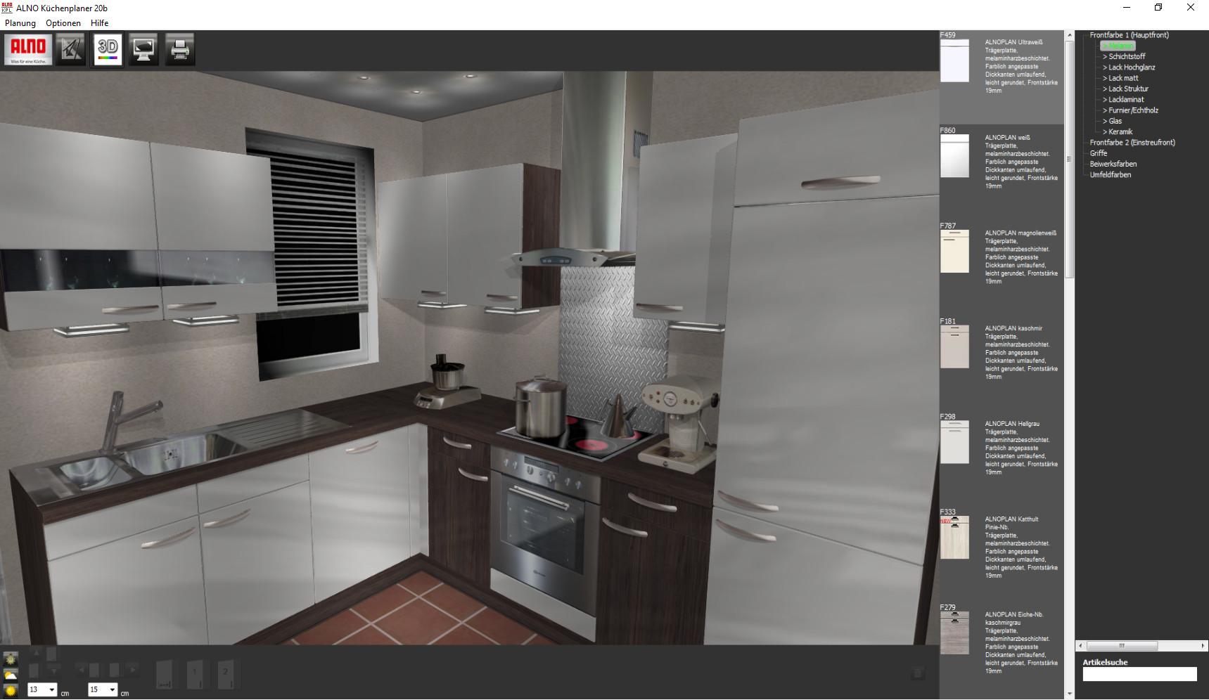 Screenshot 1 - Alno Küchenplaner