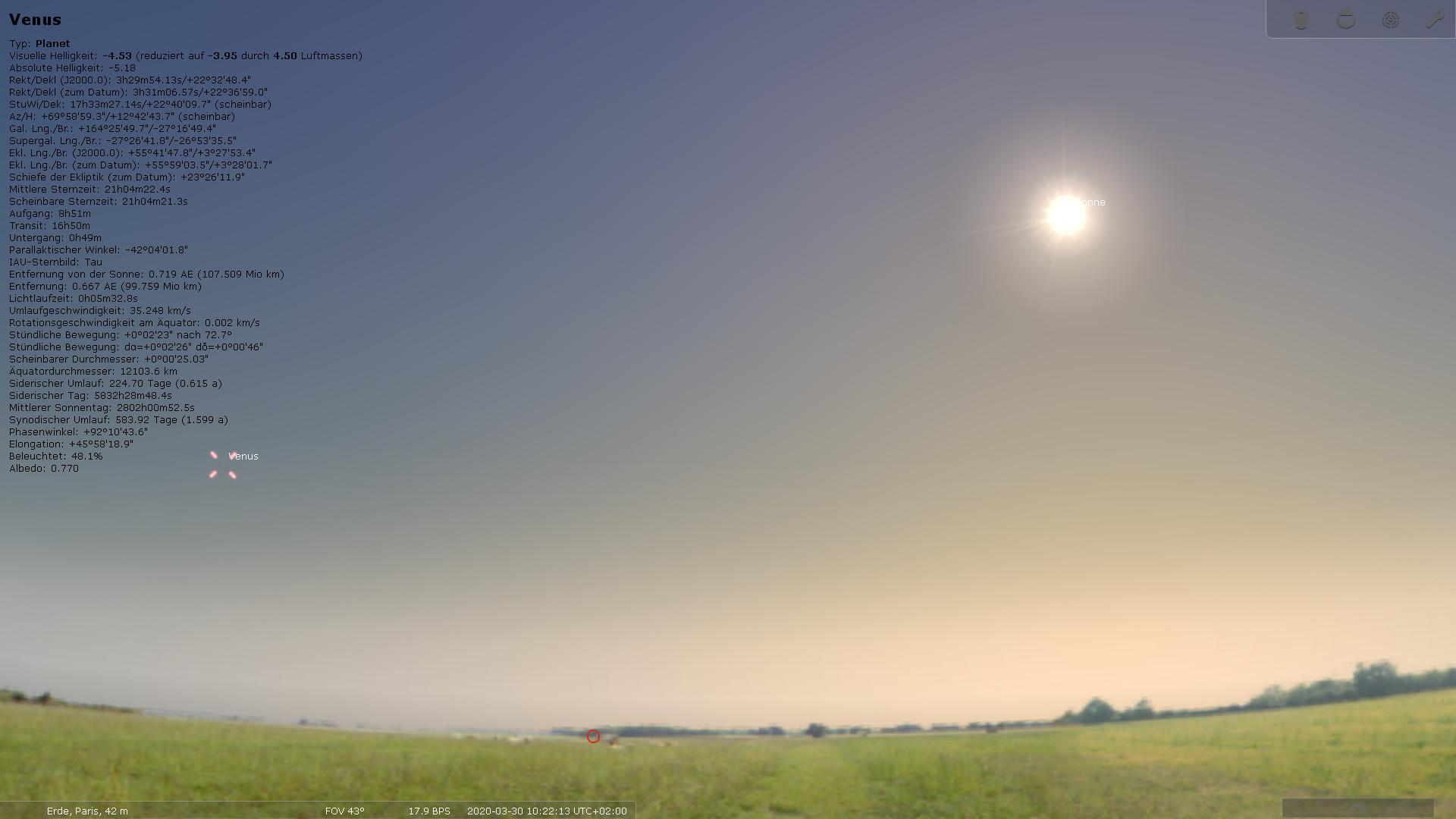 Screenshot 1 - Stellarium