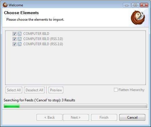 Screenshot 1 - RSSOwl