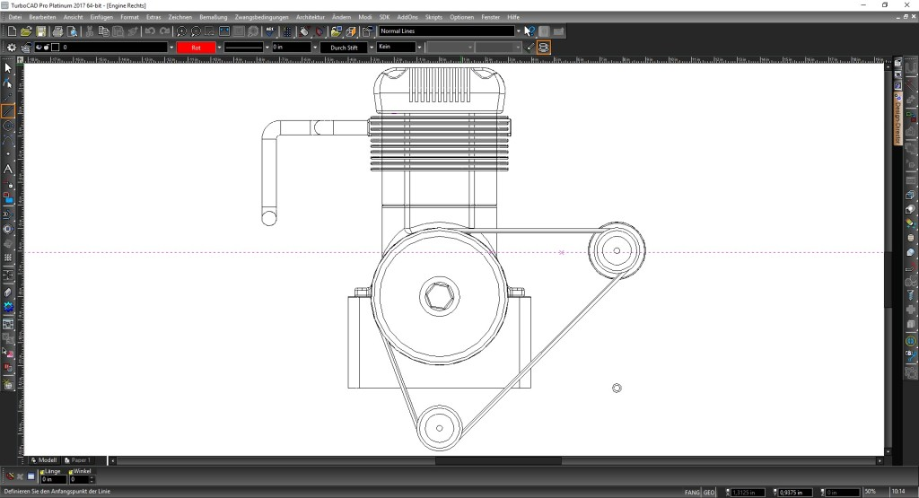 Screenshot 1 - TurboCAD 2017 Pro Platinum