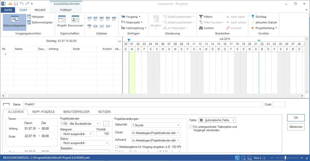Screenshot 1 - Rillsoft Project