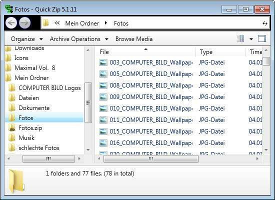 Screenshot 1 - QuickZip