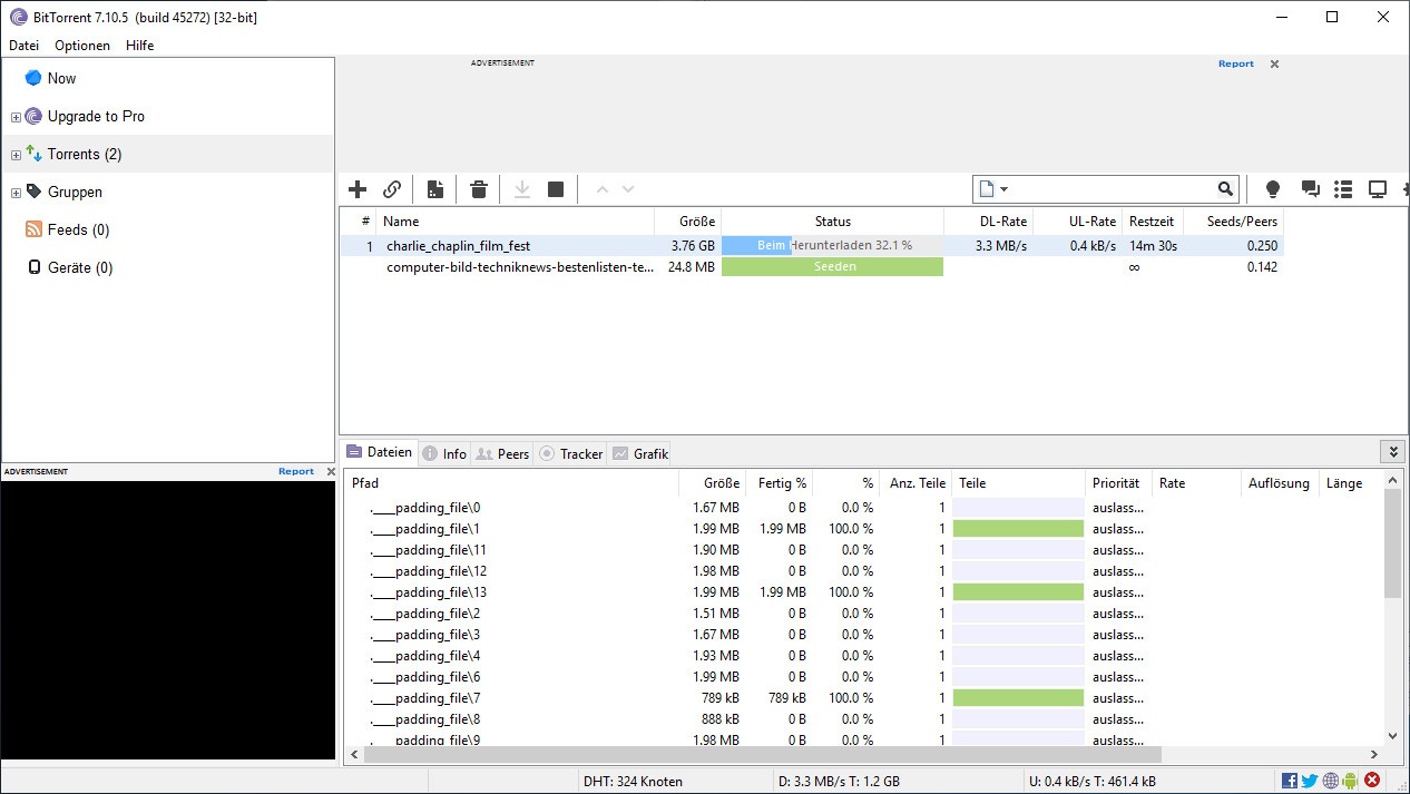 Screenshot 1 - BitTorrent