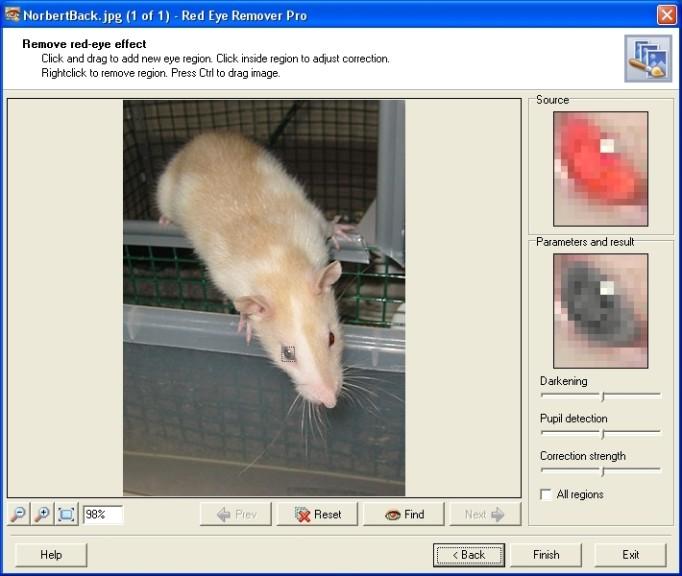 Screenshot 1 - Red Eye Remover Pro
