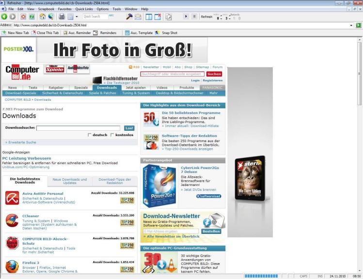 Screenshot 1 - Refresher