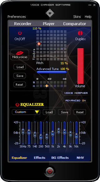 Screenshot 1 - AV Voice Changer Software