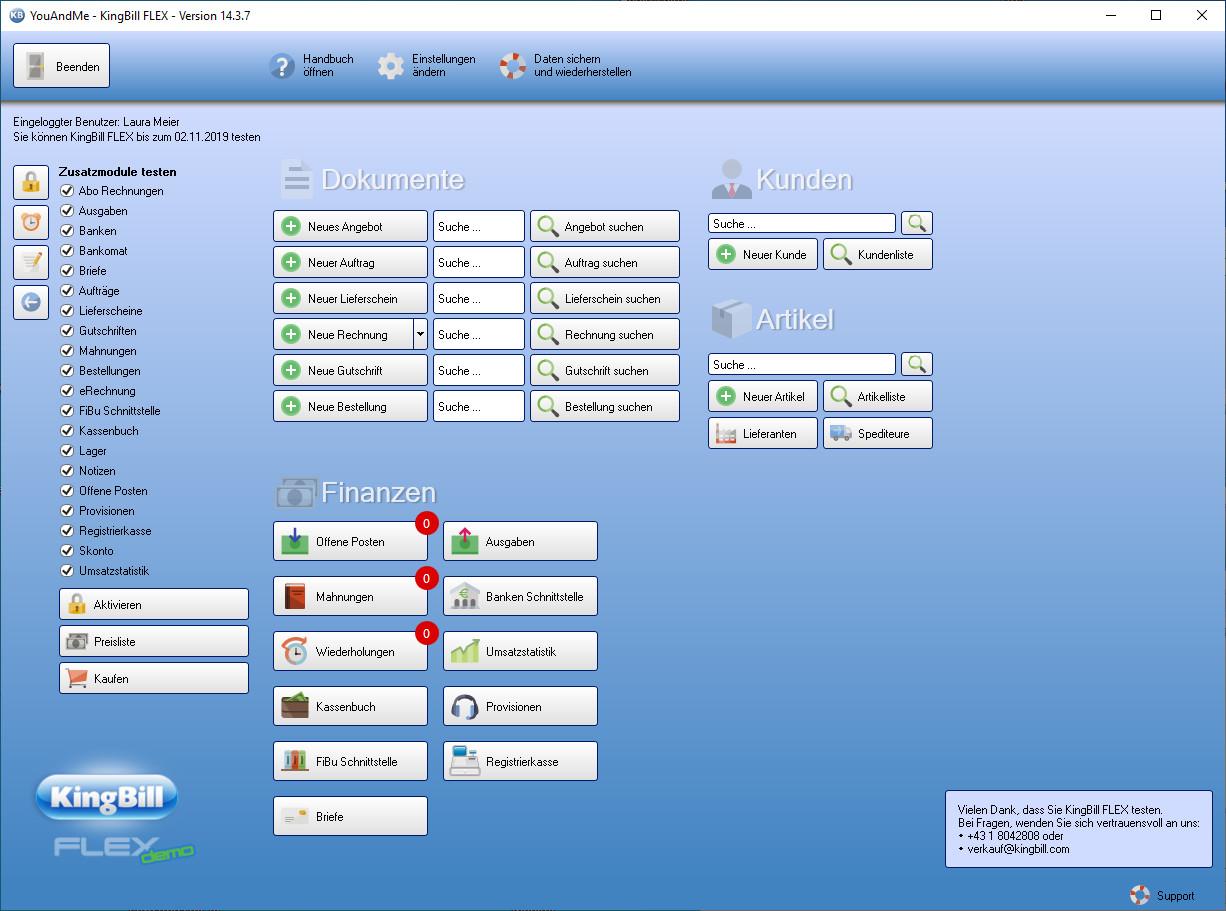 Screenshot 1 - KingBill Flex
