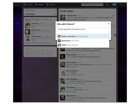 "Screenshot Twitter-Design ""Fly"" © COMPUTER BILD"
