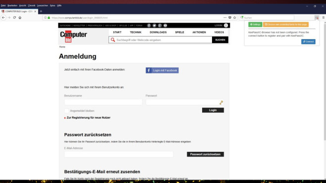 KeePassXC-Browser © COMPUTER BILD, KeePassXC Team
