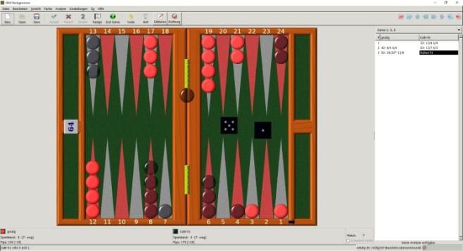 GNU Backgammon ©GNUbg.org