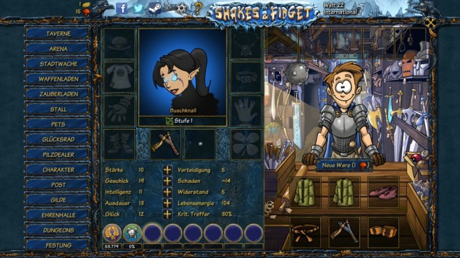 Shakes and Fidget ©Playa Games