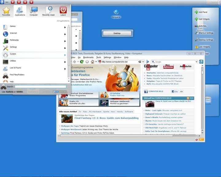 Screenshot 1 - KDE für Windows