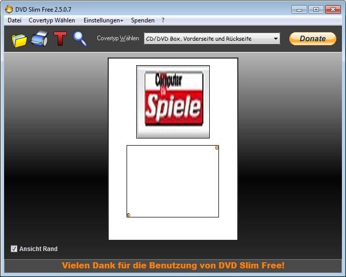 Screenshot 1 - DVD Slim Free Portable