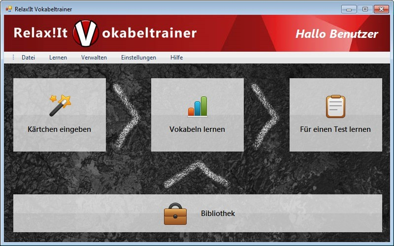 Screenshot 1 - RelaxIt Vokabeltrainer