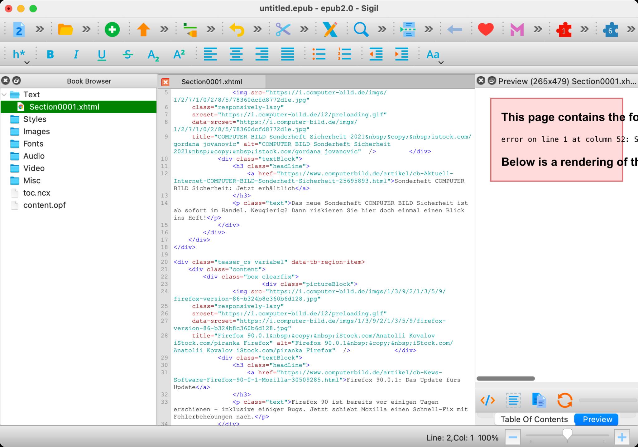 Screenshot 1 - Sigil (Mac)
