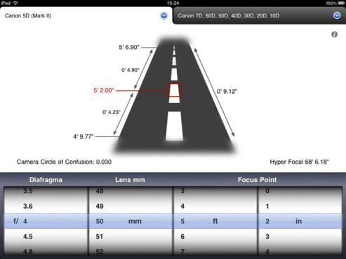 Simple DoF Calculator ©montana media