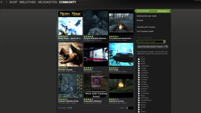 Bildergalerie Skyrim-Mods: Steam Workshop ©Valve