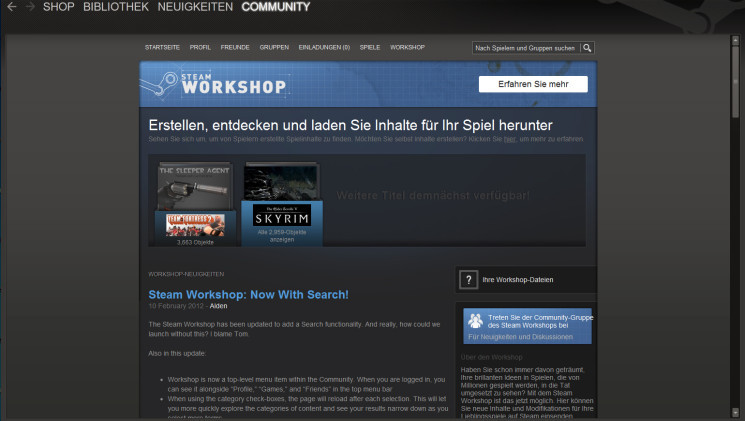 Skyrim Mods Installation Uber Steam Workshop Bilder Screenshots Computer Bild Spiele