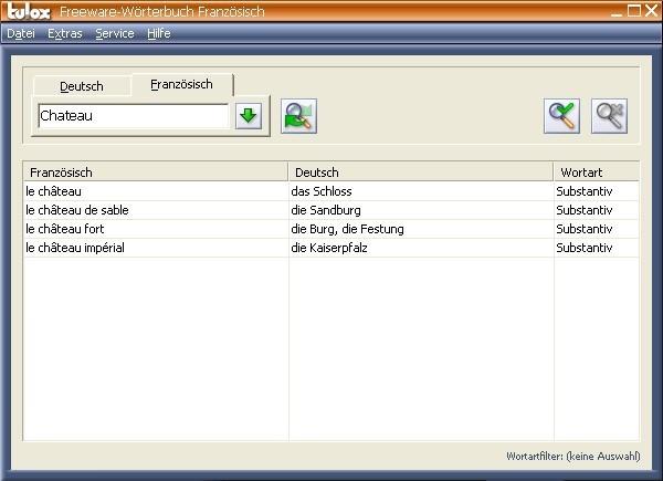 Tulox Freeware-Wörterbuch (Französisch) 1.82 - Download - COMPUTER ...