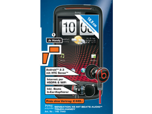 HTC Sensation XE ©Saturn