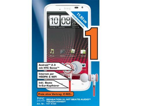 HTC Sensation XL ©Saturn