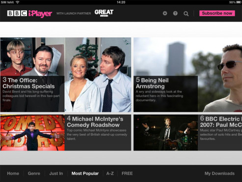 BBC iPlayer © BBC Worldwide Ltd.