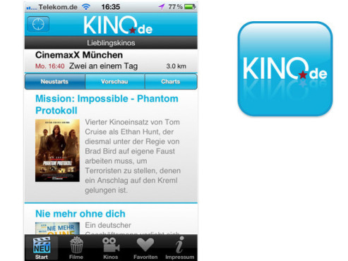 Kino.de © G+J Entertainment Media GmbH & Co. KG