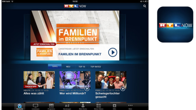RTL Now © RTL interactive GmbH