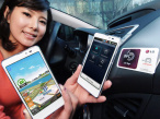 LG stellt das Optimus LTE Tag vor Ein Sticker (rechts im Bild) versetzt das Optimus LTE Tag in den Auto-Modus.©LG