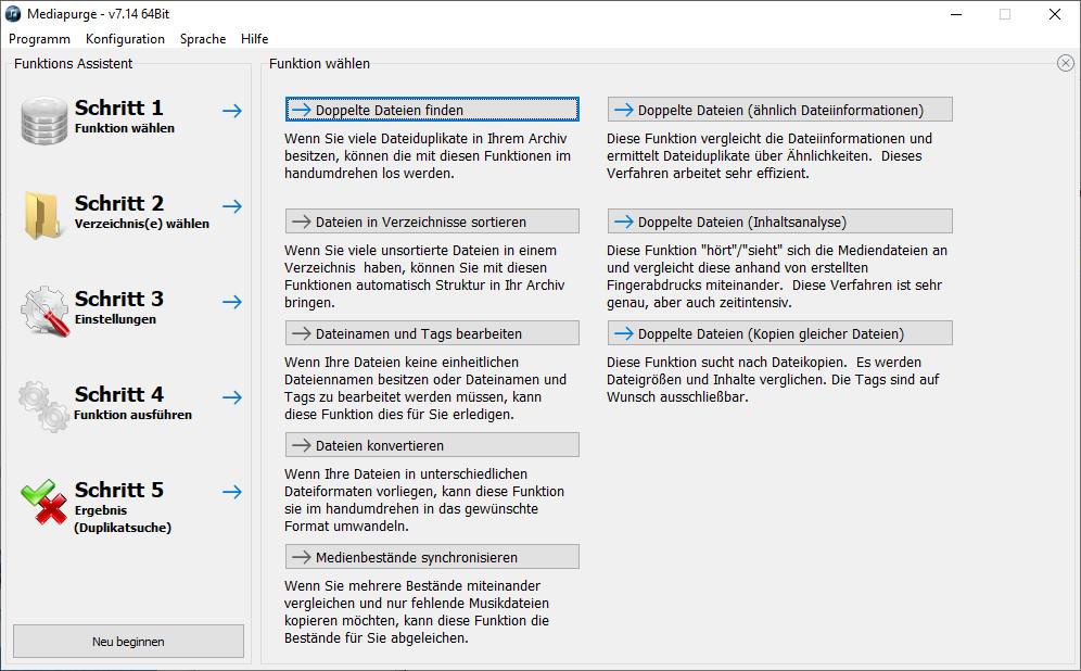 Screenshot 1 - MediaPurge