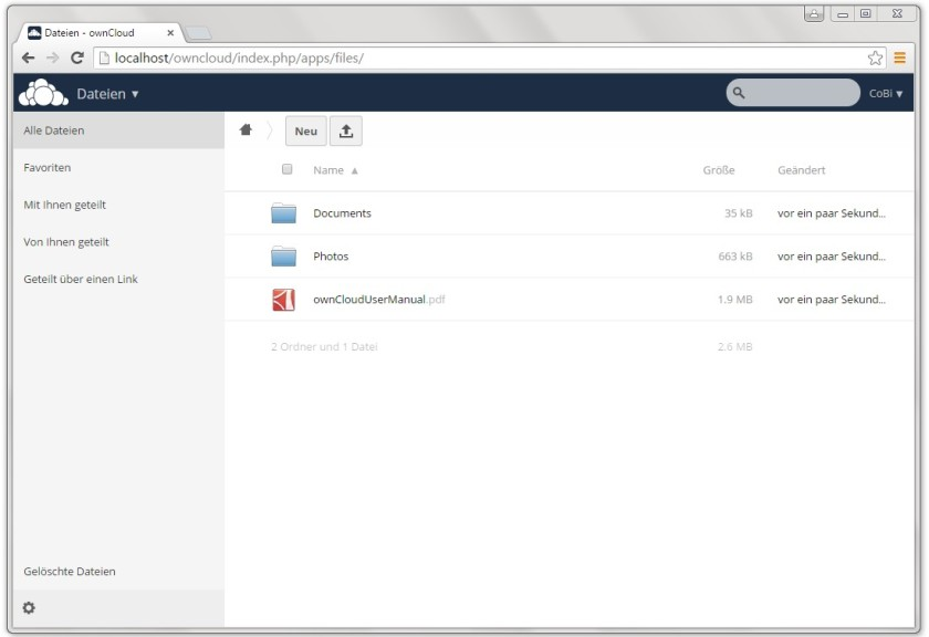 Screenshot 1 - ownCloud