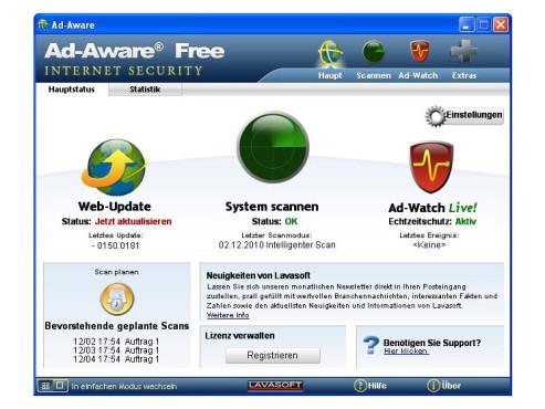 Ad-Aware Free Internet Security ©COMPUTER BILD