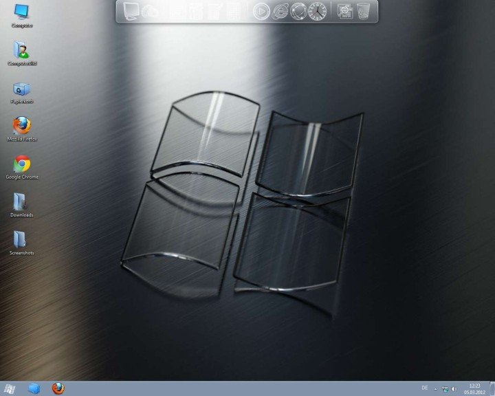 Screenshot 1 - Crystal Skin Pack (32 Bit)